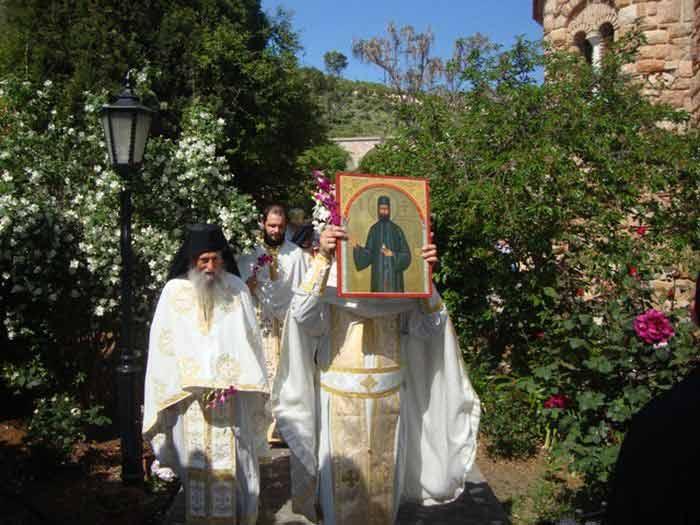 Procesiune la Mănăstirea Sf. Efrem cel Nou, de ziua prăznuirii Sfântului